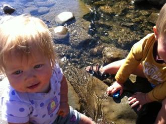 V and O enjoying river time.